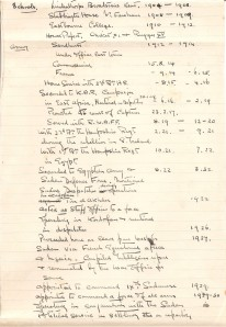 ARG handwritten service record to 1935 - incl. school pt1
