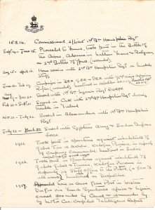 ARG handwritten service record to 1932 - pt1