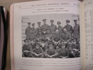 Officers of 1st Hants, Aug 1915, 1 year anniversary