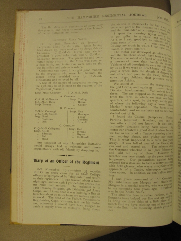 Regimental Journal p.26 Jan 1915