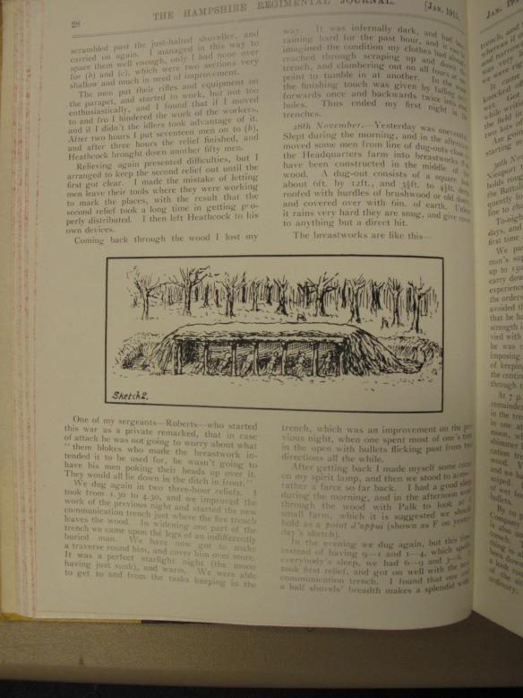 Regimental Journal p.28 Jan 1915