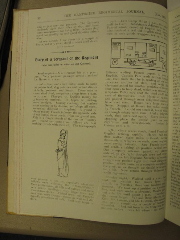 Regimental Journal p.30 Jan 1915