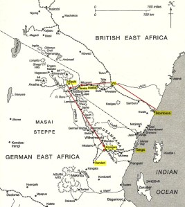 Route of ARG - Mobassa to Korogwe