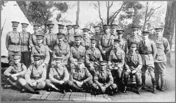 28th AIF - Some of the Original Officers