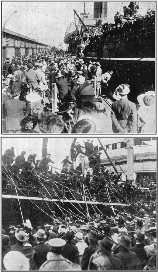 THE FAREWELL AT FREMANTLE - 9th June, 1915