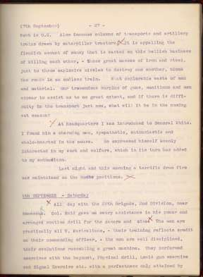 Frank Hurley Diaries 8 Sept 1917 page 27